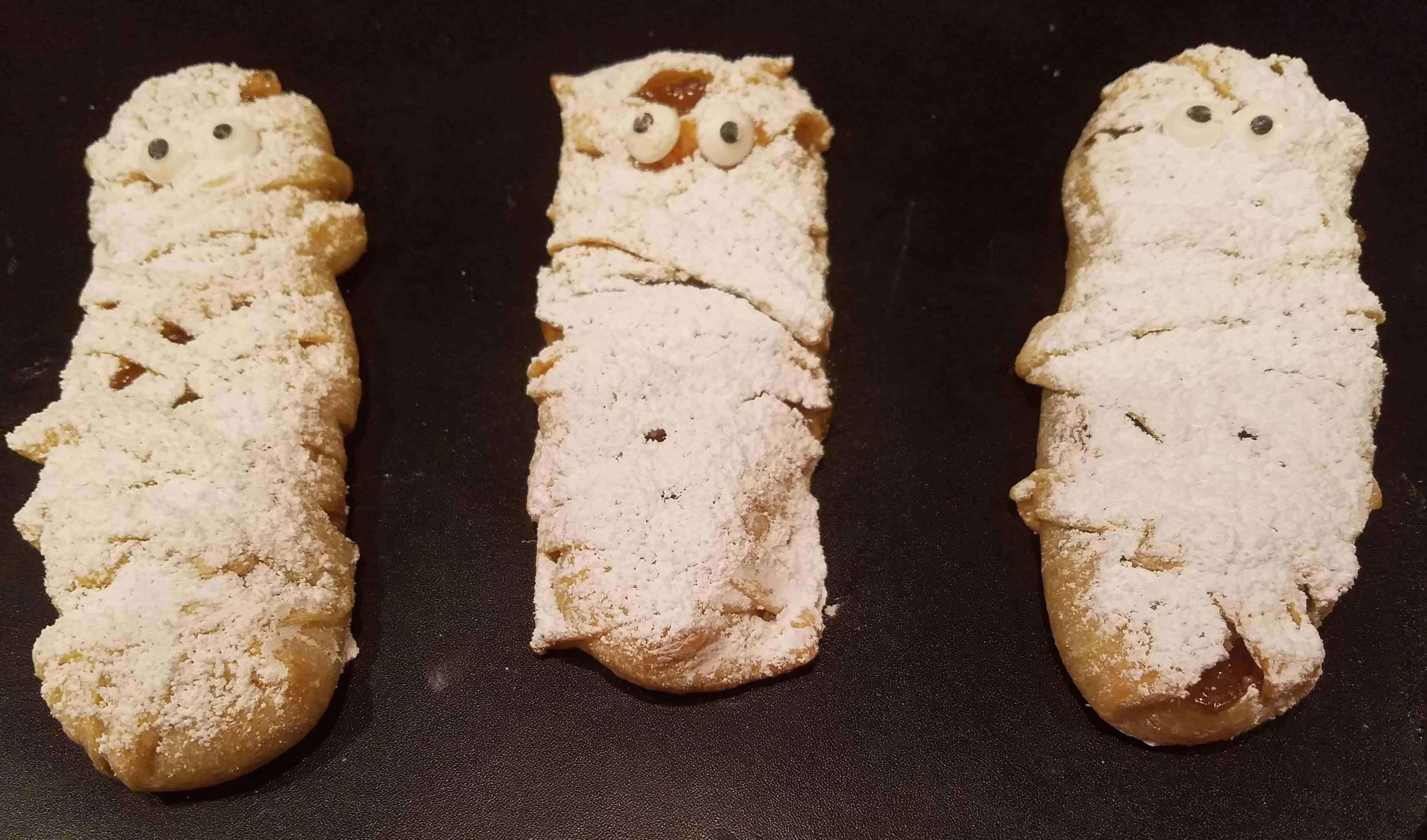 Halloween treats, hand pies